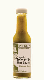 Jar of Organic Tomatillo Hot Sauce