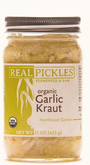 Real Pickles Organic Garlic Kraut