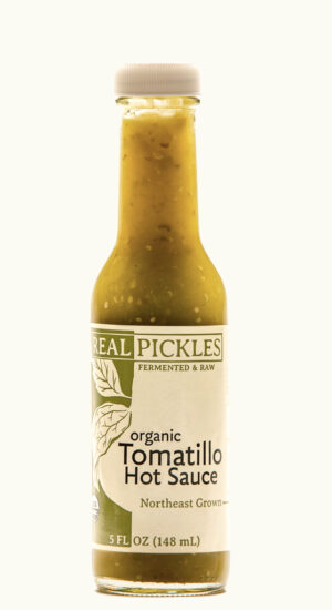 Real Pickles Organic Tomatillo Hot Sauce, fermented & raw