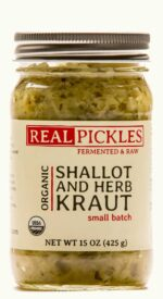 Real Pickles Organic Shallot and Herb Kraut, fermented & raw