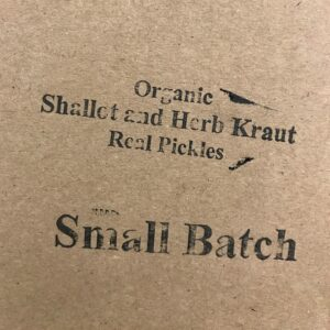 Real Pickles Shallot and Herb Kraut box stamp