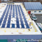 Aerial view of solar array