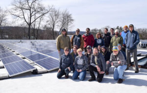 Real Pickles and PV Squared owners with solar array