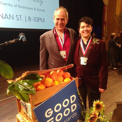 Greg and Annie at Good Food Awards